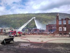 Salamanca NY fire Philadelphia / Fancher Furniture and Luminite fire 5-8-2010